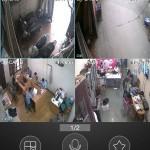 Hình ảnh camera hiện thi trên điện thoại smartphone