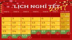 Thông báo lịch nghỉ tết xuân đinh dậu 2017 thumbnail