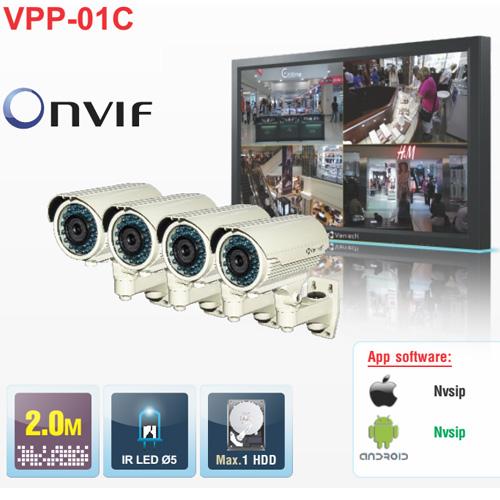 Bộ đầu ghi hình camera IP 4 kênh Powerline Vantech VPP-01C