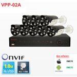 Bộ đầu ghi hình camera IP 8 kênh Powerline Vantech VPP-02A