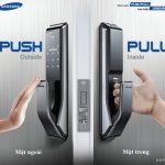 Khóa điện tử có tay cầm Samsung SHS-P717LMK/EN