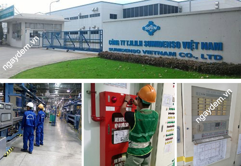 bảo trì pccc cho nhà máy sumidenso việt nam
