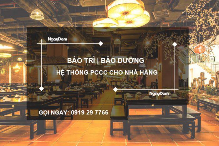 bảo trì pccc nhà hàng