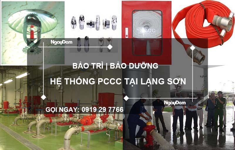 bảo trì pccc tại Lạng Sơn