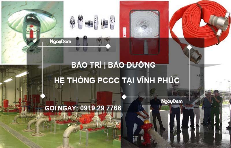 bảo trì pccc tại Vĩnh Phúc