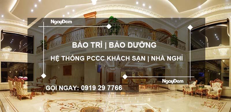 bảo trì pccc khách sạn nhà nghỉ tại TP.HCM