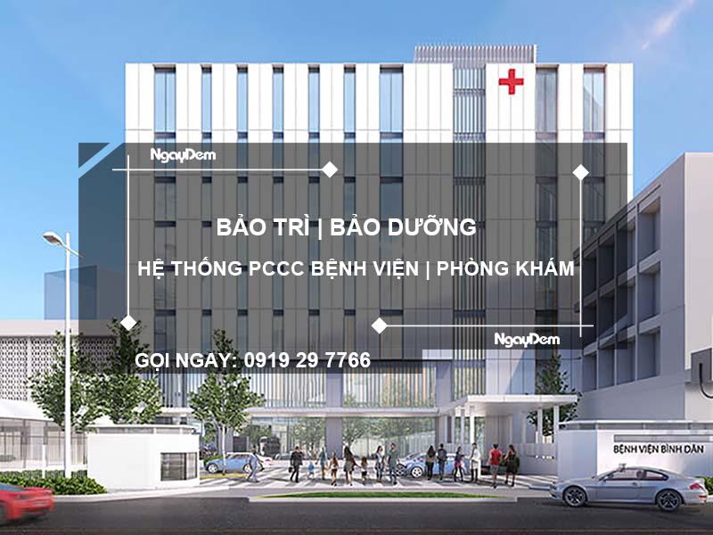 bảo trì pccc bệnh viên phòng khám tại Long An