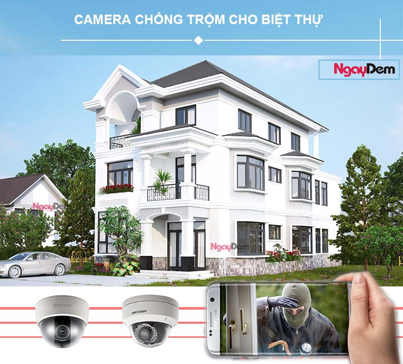 lắp đặt camera giám sát chống trộm