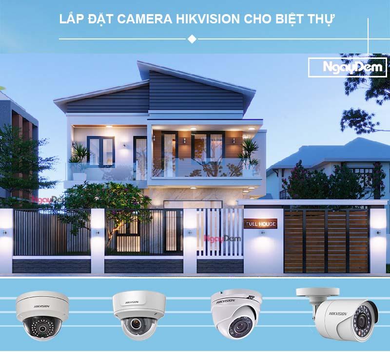 lắp camera hikvision cho biệt thự