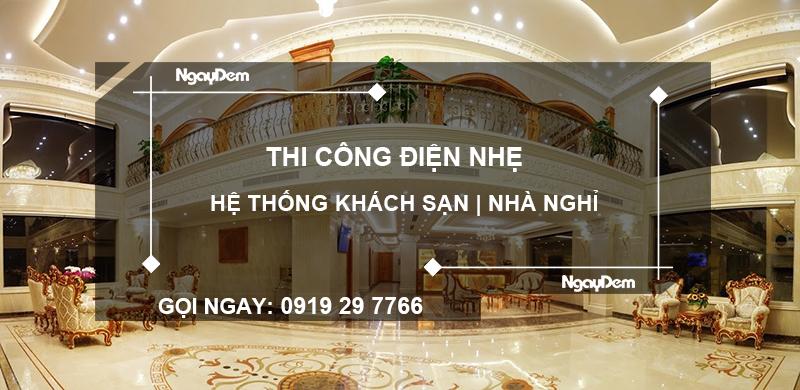 thi công điện nhẹ khách sạn tại Bà Rịa Vũng Tàu
