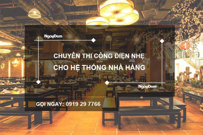 thi công điện nhẹ nhà hàng tại Bà Rịa Vũng Tàu