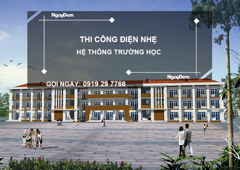 thi công điện nhẹ trường học tại đà nẵng