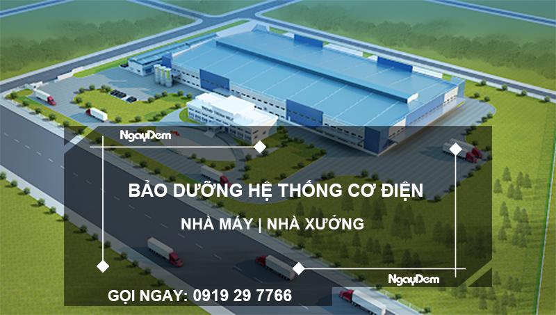 bảo dưỡng hệ thống cơ điện cho nhà máy