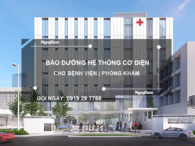 bảo dưỡng hệ thống cơ điện cho bệnh viện