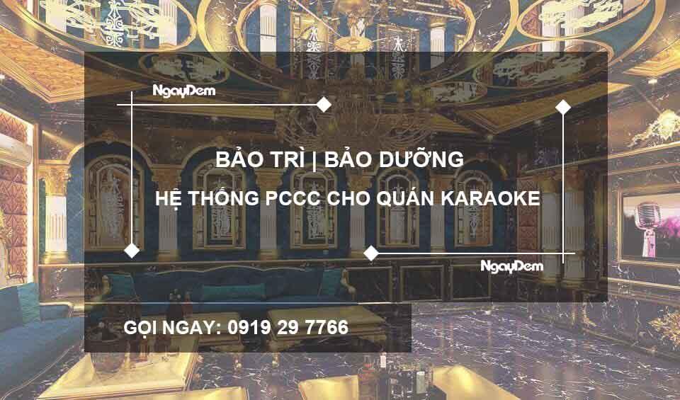 bảo trì pccc quán karaoke hà nội
