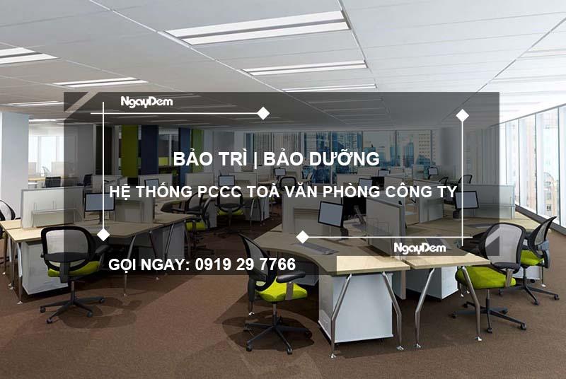 Bảo dưỡng pccc văn phòng tại quận Hà Đông