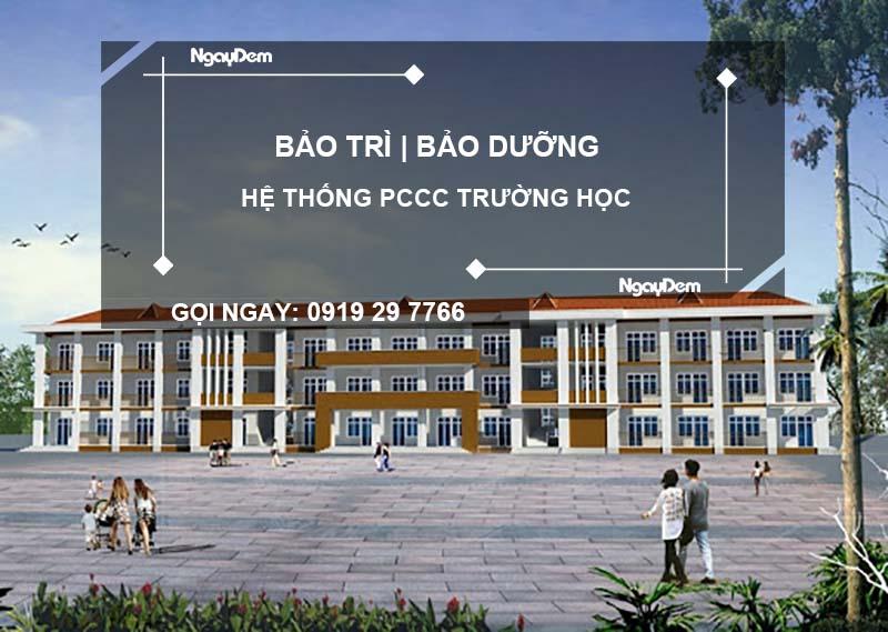 Bảo dưỡng pccc trường học tại quận Hà Đông